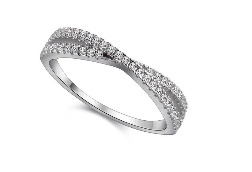 s925 Cimatron Jewelry Inlaid Rings Womens Cross Fashion Silver