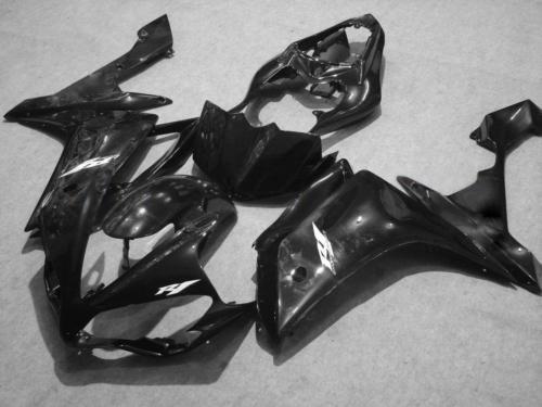 Alle Black Carrosseriebereiken voor 2007 2008 YZF R1 YZFR1 07 08 YZF-R1 Volledige kuipet + gratis geschenk