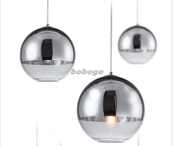 New modern chrome glass mirror ball ceiling lighting pendant lamp see larger image mozeypictures Images