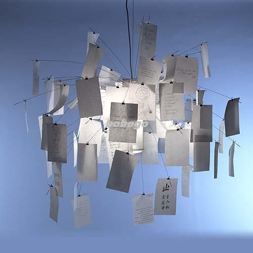 Dia 120cm zettelz 5 paper zettel ceiling light pendant lamp see larger image mozeypictures Images