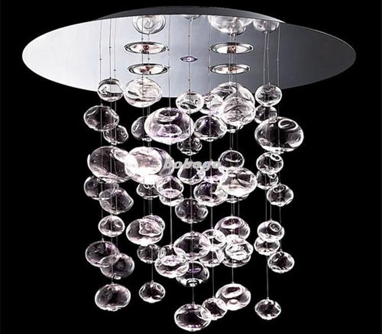 60cm Murano Due Bubble Glass Chandelier Suspension Light Pendant