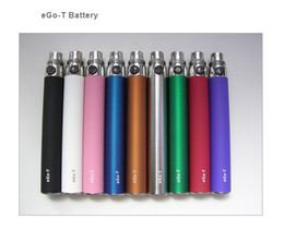 Wholesale Ego High Capacity - Top Quality Free shipping EGO-T colorful battery 650mah 900mah  1100mah high capacity fit mt3 t2 t3s protank dct vivi nova atomizer