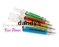Wholesale syringe ballpoint pen resale online - Promotion Korean creative stationery New syringe ballpoint pen student gifts ball pen Pc