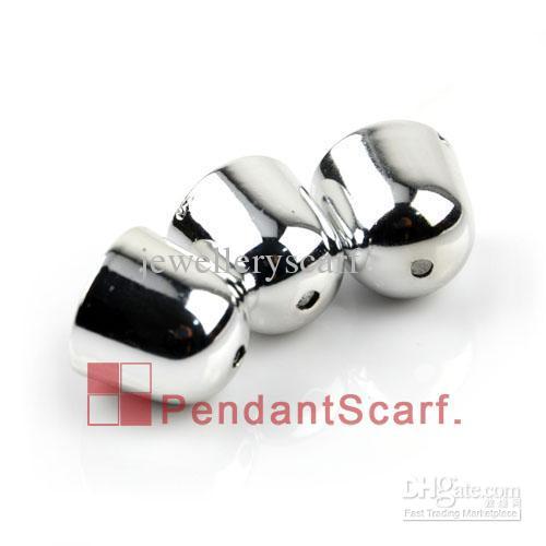 100 stks / partij, Top Mode DIY Sieraden Ketting Sjaal Hanger Shine Sliver Plastic CCB Bead Caps Charm Accessoires, Gratis Verzending, AC0154b