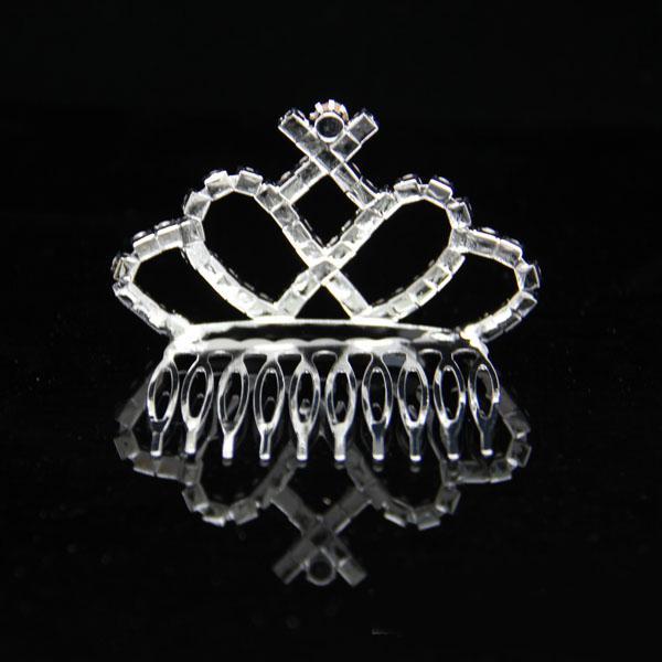 5 pçs / lote De Cristal De Vidro Headpiece Headpiece Do Casamento Do Diadema Das Mulheres para Meninas De Flor no Casamento FL17
