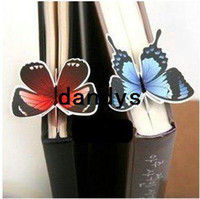 Wholesale Clip Book Ends - Free Shipping Creative butterfly Bookmarks Cartoon Book marks Paper Clip Office & School Wholesale