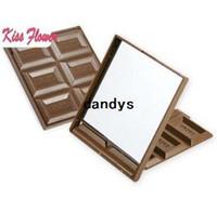 Wholesale Cosmetic Chocolate Mirror - Free Shipping Chocolate mirror hand Mirror portable pocket cosmetic mirror-- 2 Design
