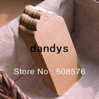Wholesale Kraft Table Numbers - Wholesale 350GSM Scallop Kraft Blank Hang tag, Retro Gift tag, Table Number cards, 500pcs lot High Quality 350g Kraft Tag