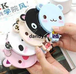 mirror comb set wholesale Canada - Cute cartoon animal comb + mirror set Makeup Mirrors portable pocket cosmetic mirror FreeShipping