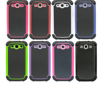Wholesale Ballistic Hc Cases - Hot Ballistic Hard Core (HC) Plastic skin silicone inner cover case for Samsung galaxy S 3 III S3 i9300