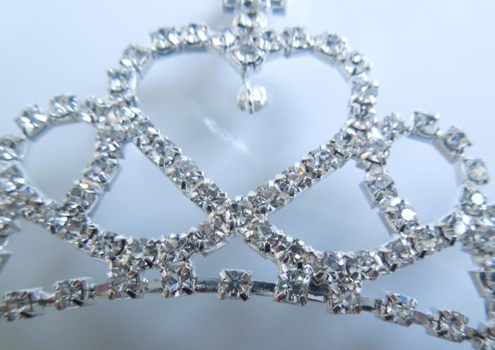 Belle cristal clair diamants mariage pinces à cheveux Couronne Flowergirls casque pour Lady FL18