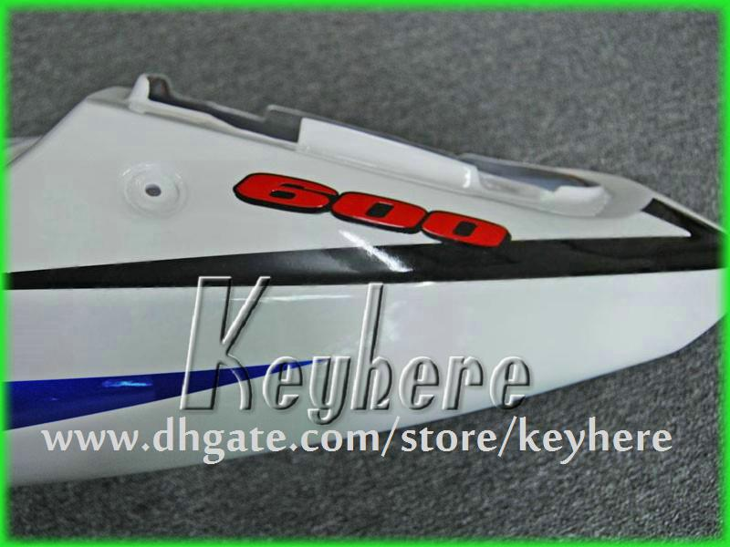 Kit de carenagem personalizada para SUZUKI GSXR 600/750 01 02 03 GSX R600 / 750 GSXR600 2001 2002 2003 carenagens G1g azul branco