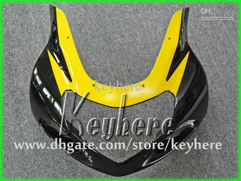 Personnaliser le kit de carénage en plastique ABS pour SUZUKI GSX R600 R750 01 02 03 GSXR 600 750 2001 2002 2003 carénage k1 G1h nouvelles pièces de moto jaune