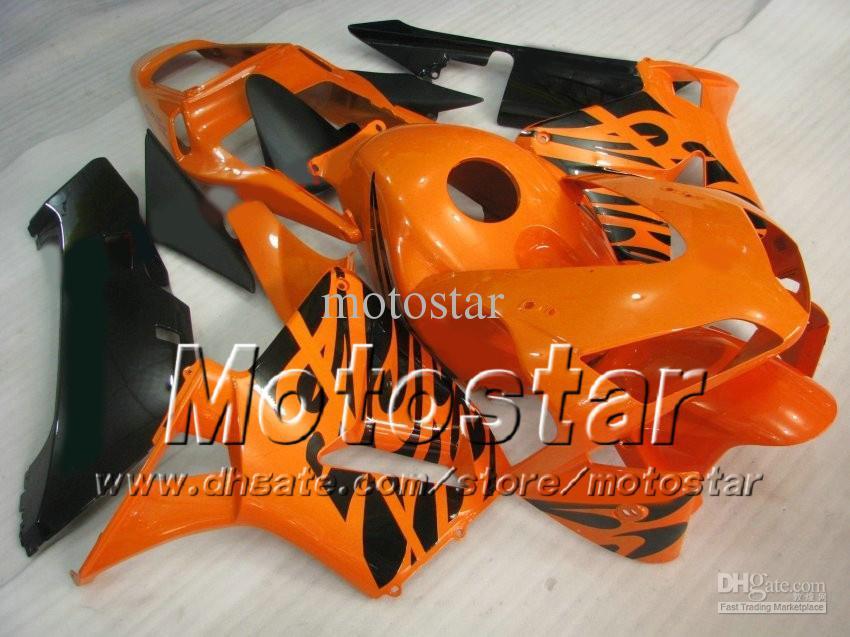 7 Cadeaux de moulage par injection moulage ensemble pour HONDA CBR600RR F5 2003 2004 CBR 600 RR 03 04 orange kit de carénage personnalisé ae35