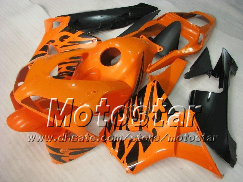 7 carenature lo stampaggio a iniezione di articoli da regalo HONDA CBR600RR F5 2003 2004 CBR 600 RR 03 04 kit carena custom nero arancione ae35