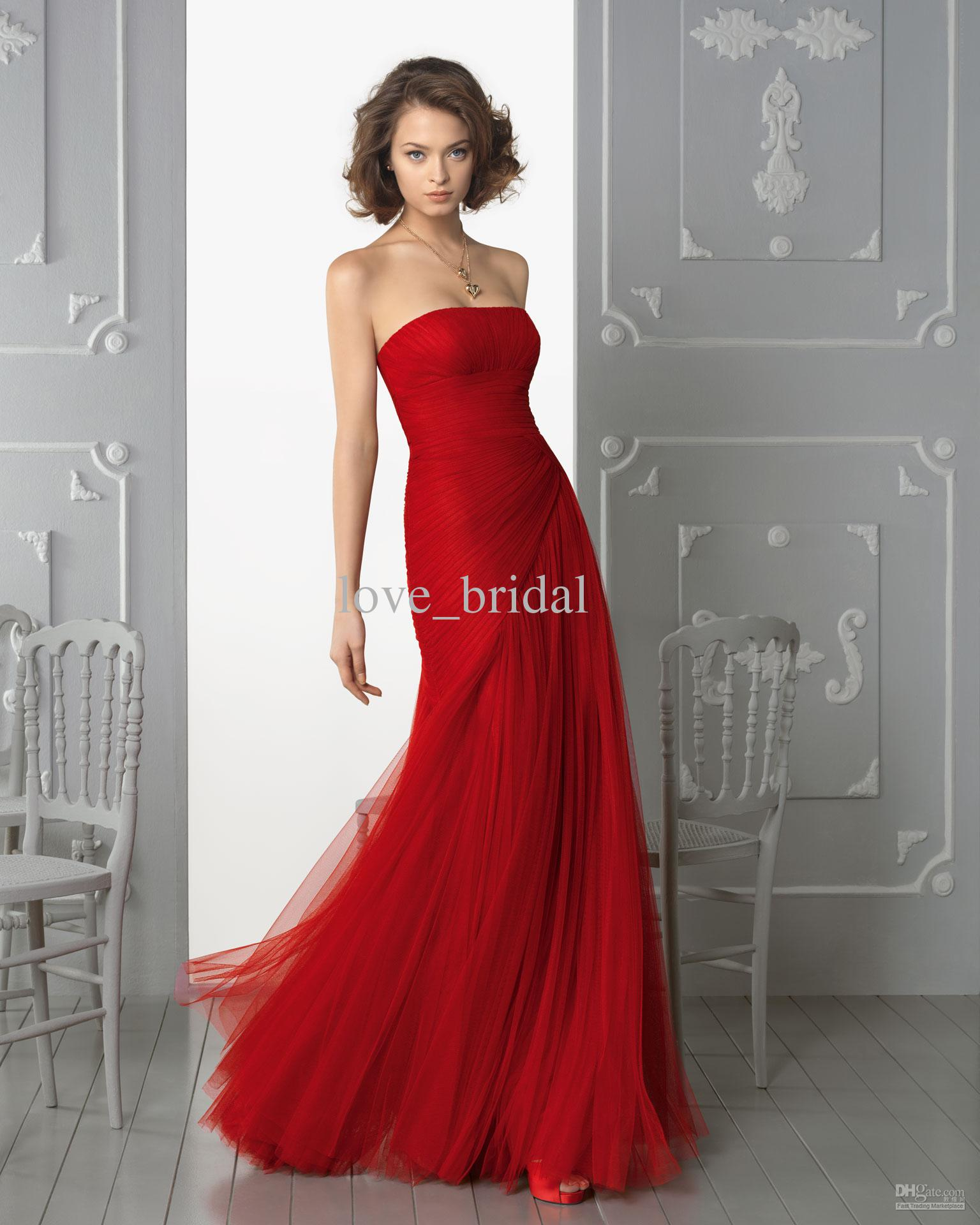 2013 bridesmaid dresses cheap custom made a line strapless pleats 2013 bridesmaid dresses cheap custom made a line strapless pleats floor length red tulle long ombrellifo Image collections