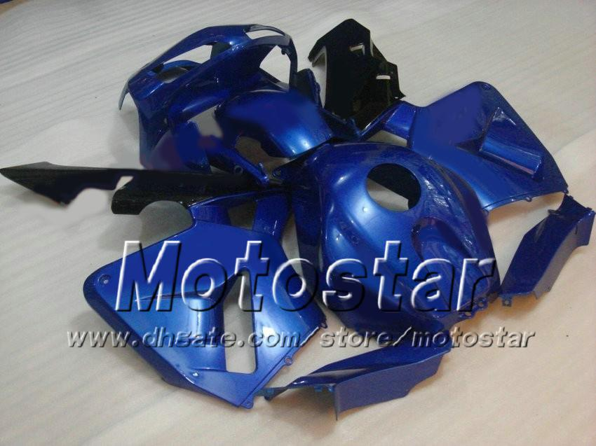 Ensemble de 7 carénages de moulage par injection de cadeaux pour HONDA CBR600RR F5 2003 2004 CBR 600 RR 03 04 bleu kit de carénage sur mesure ae37