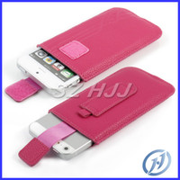Wholesale Iphone5 Belt Leather Cases - Ultra Thin Leather Pouch Belt Clip Litchi Leather Case for Apple iphone5 5 5G
