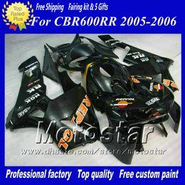 $enCountryForm.capitalKeyWord Canada - 7 Gifts motorcycle fairings for HONDA CBR600RR F5 2005 2006 CBR 600 RR 05 06 glossy black injection molding ABS fairing ae64