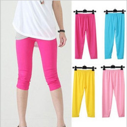 Wholesale Cheap Black Candy - Cheap NEW Summer Women's Candy colors Seamless Stretchy calf Leggings Elastic Tights,high quality,support drop shipping