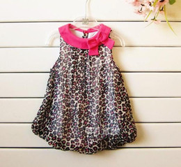 Wholesale Dress Girl Romper - 2016 Summer baby girl leopard short sleeve one-piece dress babe romper babies clothing clothes 5pcs lot