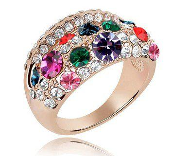 2018 Bridal Costume Jewellery WomenS Crystal Ring Fashion Jewelry