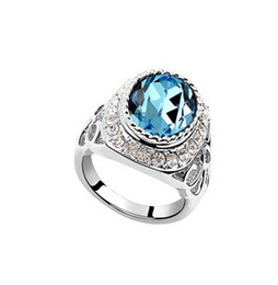 Wholesale Gold Venus - Hot Sale 18k White Gold Plated Jewelry Austrian Crystal Ring -Venus Charm Rings make with Swarovski Elements (5-colors) 6558