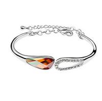 Wholesale Cheap Korean Fashion Free Shipping - Korean High-grade Fashion Jewelry Cheap Jewelry Free Shipping Austrian Crystal Bracelets make with Swarovski Elements (6- colors) 6950