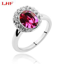028b58692 Fashion Brand Charm Wedding Ring 18k White Gold Plated Women's Crystal Rings  make with Swarovski Elements (4- colors) 1075