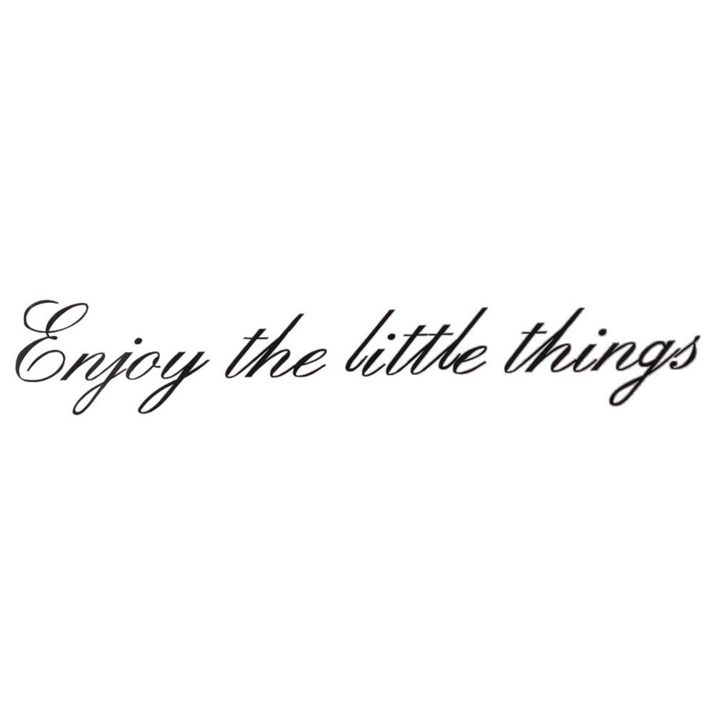 Enjoy The Little Things Vinyl Wall Quotes Inspirational