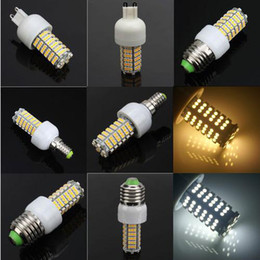 Wholesale E27 White 3528 - Retail E27|G9|E14 LED Corn Bulb 3528 SMD 120 LED Light 7W 360 degree 700 Lumen High Power Home Lamp Energy lights lighting on sales