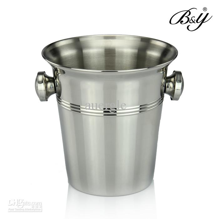 stainless steel ice bucket. 2018 B\u0026Amp;Y Stainless Steel Ice Bucket Beer Champagne Large Capacity From Auergle, $520.55 | Dhgate.Com S