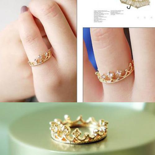 finger plated jewelry color crystal on hot item gold ring stylish accessories rings shaped size fashion sale rhinestone in women rose from