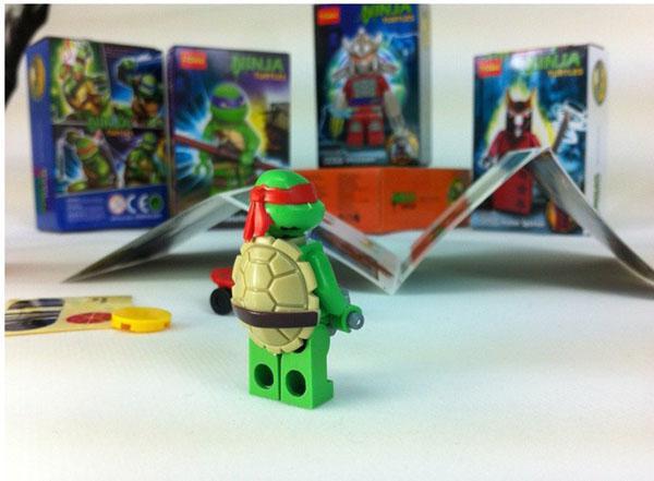 tortues ninjas assembls blocs darmes de planche roulettes de poupe jouets avec votre