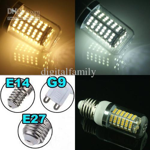 10 Piece Led Corn Light E27 G9 E14 8W 650-Lumen 120 SMD With Cover 3528 LED Light AC 110V - 240V Energy Saving LED Light Bulbs on sales