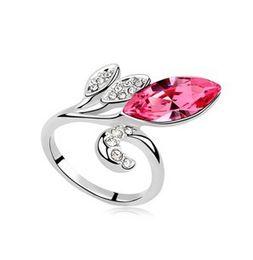 China Korean Accessories Women's Crystal Ring Fashion Jewelry Make With Swarovski Elements 7 colors Free shipping 8193 cheap korean ring accessories suppliers