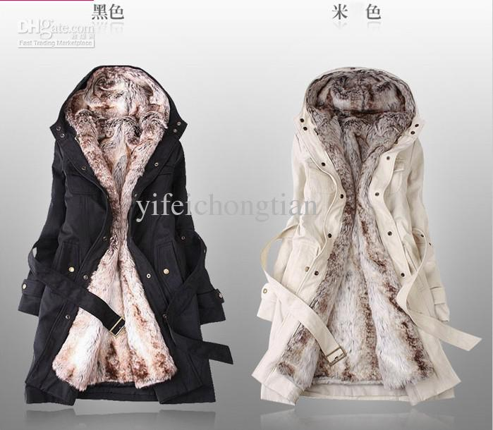Free ship new style winter women's fur coats winter warm long coat clothes