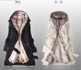 Свободный корабль новый стиль зима женская шубы зима теплая длинная одежда пальто от