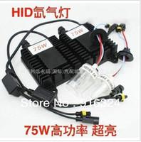 Wholesale H7 Xenon 75w Kit - 75W single beam H13 880 881 H1 H7 9006 9005 HID xenon kit ,6000k ,3000k, 4300k,8000k