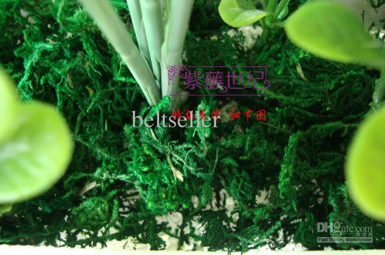 Alta decorazione artificiale 300g / del giardino delle piante verdi del fiore artificiale del muschio verde di simulazione alta Trasporto libero