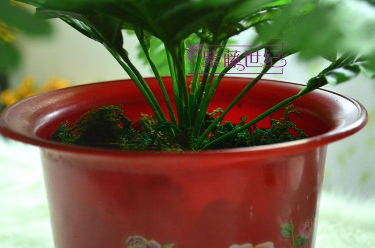 Hoge simulatie groen mos kunstbloem kunstmatige groene planten tuin decor 300g / partij gratis verzending