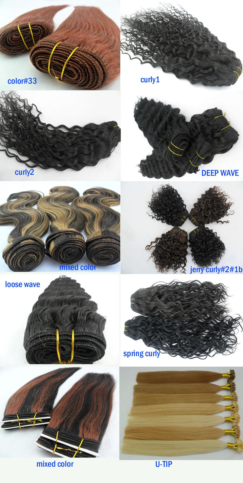 Mass Customization Hair Extension 100 Human Hair Weave Brazilian