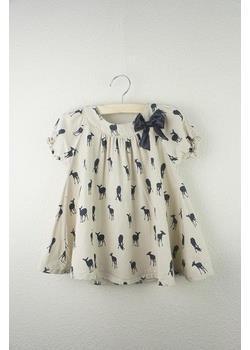 2013 yaz yay kızlar elbise geyik elbiseler 100% pamuk elbise çocuklar güzel çocuk giyim, ücretsiz kargo, toptan ve perakende