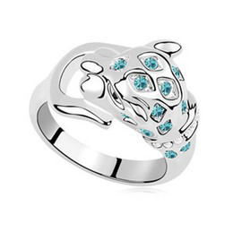 Wholesale Platinum Plated Jewellery - Costume Jewellery Austrian Crystal Rings Platinum Plated 18K White Gold Filled 9016