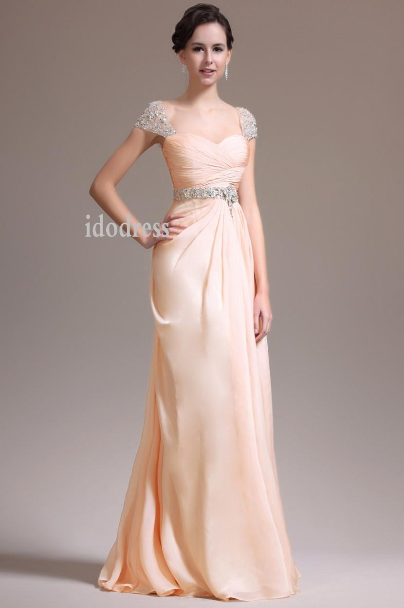 Best Capped Prom Dresses 2014 Brand Design Sweetheart Chiffon ...