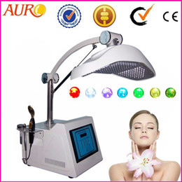 Wholesale Colour Therapy - pdt LED therapy phototherapy beauty equipment 7 colour skin rejuvenation whitening wrinkle removal machine with CE Au-2