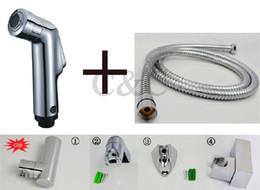 Wholesale Handheld Shattaf Bidet Sprayer - ABS Chrome Handheld Bidet Shattaf Kit Sprayer Douche + Hose And Holder (Gift) A1601S