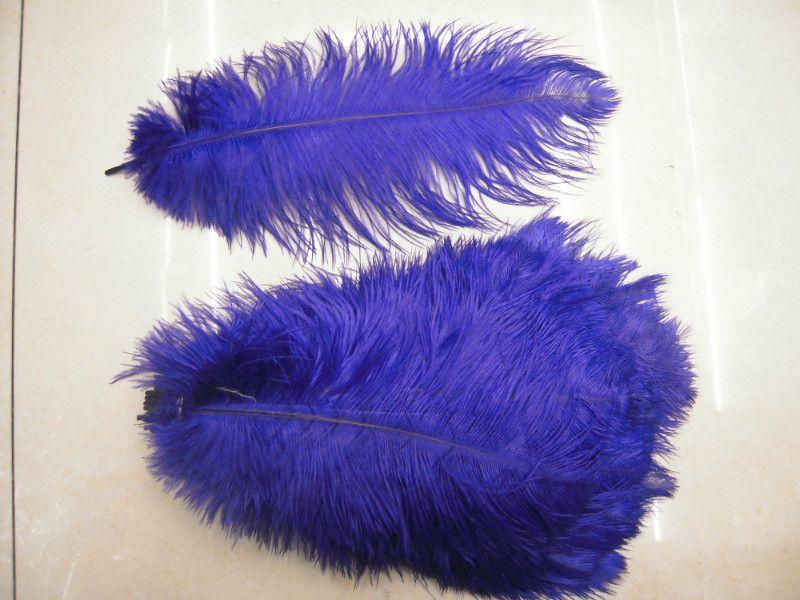 화이트 블랙 로얄 블루 퍼플 핑크 레드 옐로우 그린 타조 깃털 16-18INCH 40-45cm 웨딩 센터 피스
