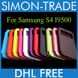 Wholesale Galaxy S4 Case Flip Wake - Flip Leather Case Cover Wake UP Sleep Front Back Cases Open Window Official case for Samsung Galaxy S4 SIV i9500 with Retail Package