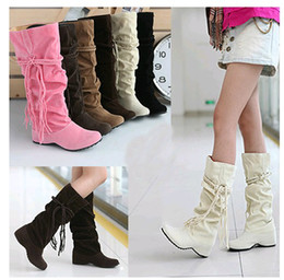 $enCountryForm.capitalKeyWord Canada - Fashion Women's Shoes Sell like Hot cakes female boots with tassel nubuck suede from the increase in canister boots